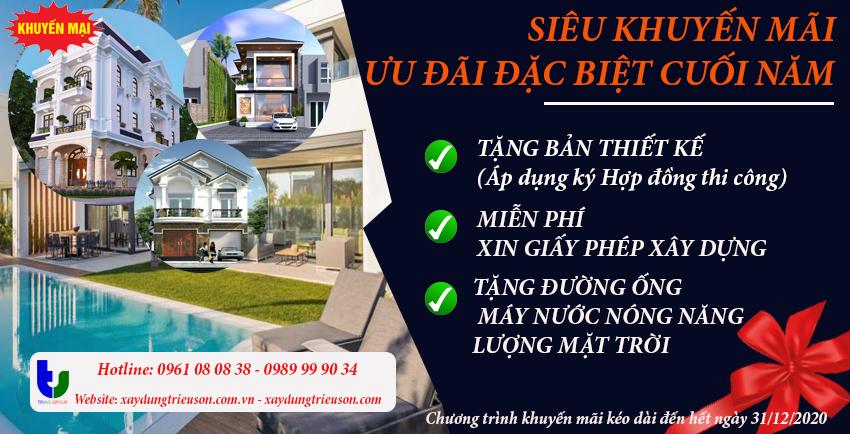 Chương trình khuyến mãi nhiều ưu đãi của công ty Triệu Sơn