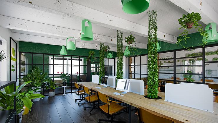 Thiết kế văn phòng xanh mang lại nhiều ưu điểm vượt trội